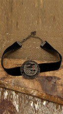 Antique Gear Choker Necklace