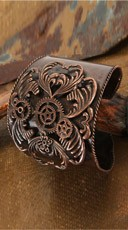 Antique Copper Cuff Bracelet