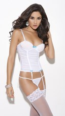Bridal White Bustier Set
