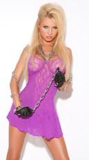 Purple Lace Halter Style Dress