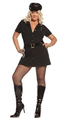 Plus Size Arrest Me Officer Costume