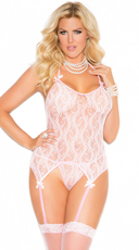 Plus Size Three-Piece Lace Camisette Set