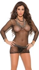 Industrial Net Mini Dress