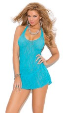Lace Halter Top Mini Dress