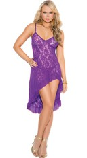 Pretty in Purple Lace Gown