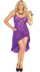 Plus Size Pretty in Purple Lace Gown