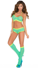 Colorful Striped Cami Set