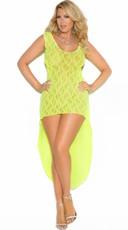 Plus Size Long Lime Lace Chemise