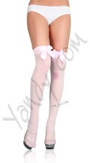 Thigh Highs with Satin Bow