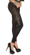 Leggings With Cross Studs