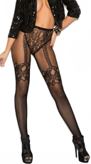 Fishnet and Lace Crochet Pantyhose