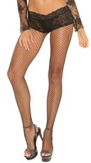 Fishnet Pantyhose with Lace Panty Top