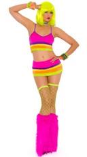 Neon Nites Lycra Bra and Mini Skirt