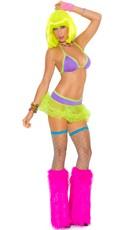 Neon Halter Bra and Tutu Skirt