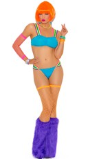 Neon Nites Strappy Bra and Thong