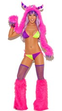 Neon Nites Bra and Panty Set
