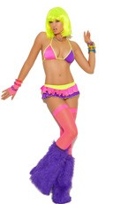 Neon Nites Bra and Skirt Set