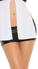 Black Wet Look Mini Skirt