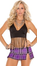Fringe Accent Halter Top