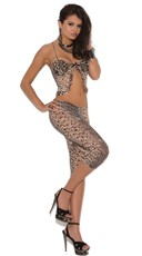 Animal Print Cami and Capri Pants Set