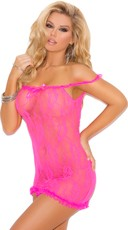 Stretch Lace Babydoll with Satin Bow Detail