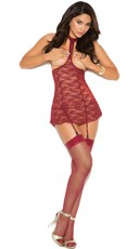 Red Hot Cupless Chemise