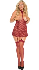 Plus Size Red Hot Cupless Chemise