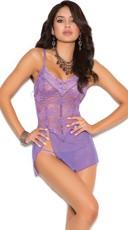 Delicate Purple Lace Chemise