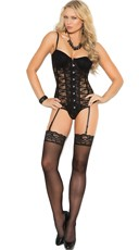 Seductive Lace-Up Bustier