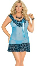 Plus Size The Wild Side Blue Chemise