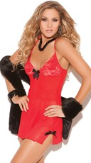 Lacey Mesh Chemise