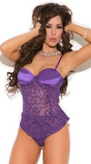 Mesh Burnout Bustier and G-String