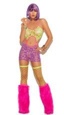 Neon Nites Ripped Mini Dress