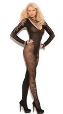 Jacquard Bodystocking With Long Sleeves