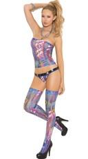 Multicolor Cut Out Cami Set