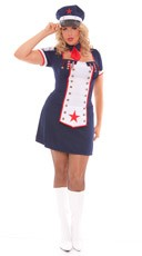 Plus Size Naval Knockout Costume