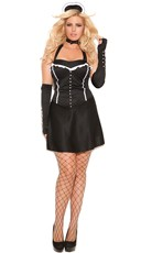 Plus Size Formal Affair Maid Costume