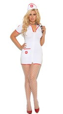 Plus Size Sexy Head Nurse Costume