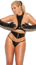 Plus Size Kinky Babe Cupless Lingerie Set