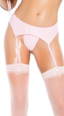 Anything But Basic Pink Vinyl Garter Belt