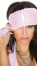 Ruffled Pink Vinyl Eye Mask