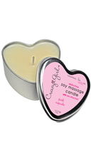 Soy Massage Heart Cupcake Candle