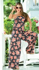 Sexy Casual Floral Print Romper