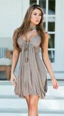 Dramatic in Draping Mini Dress