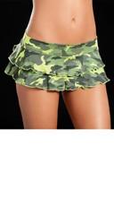 Patterned Layered Ruffle Skirt