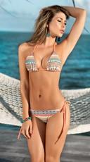 Printed Thong Bikini