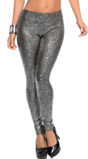 Metallic Patterned Leggings