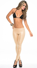 Opaque Metallic Leggings