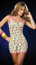 Black Light Glow Mini Dress
