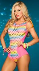 Rainbow Mesh Bodysuit